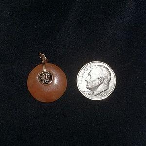Jewelry - Rare colored 14k Jade Pendant